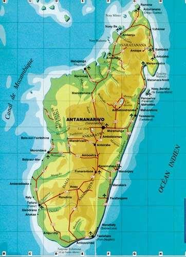 Carte de Madagascar. © Domaine public