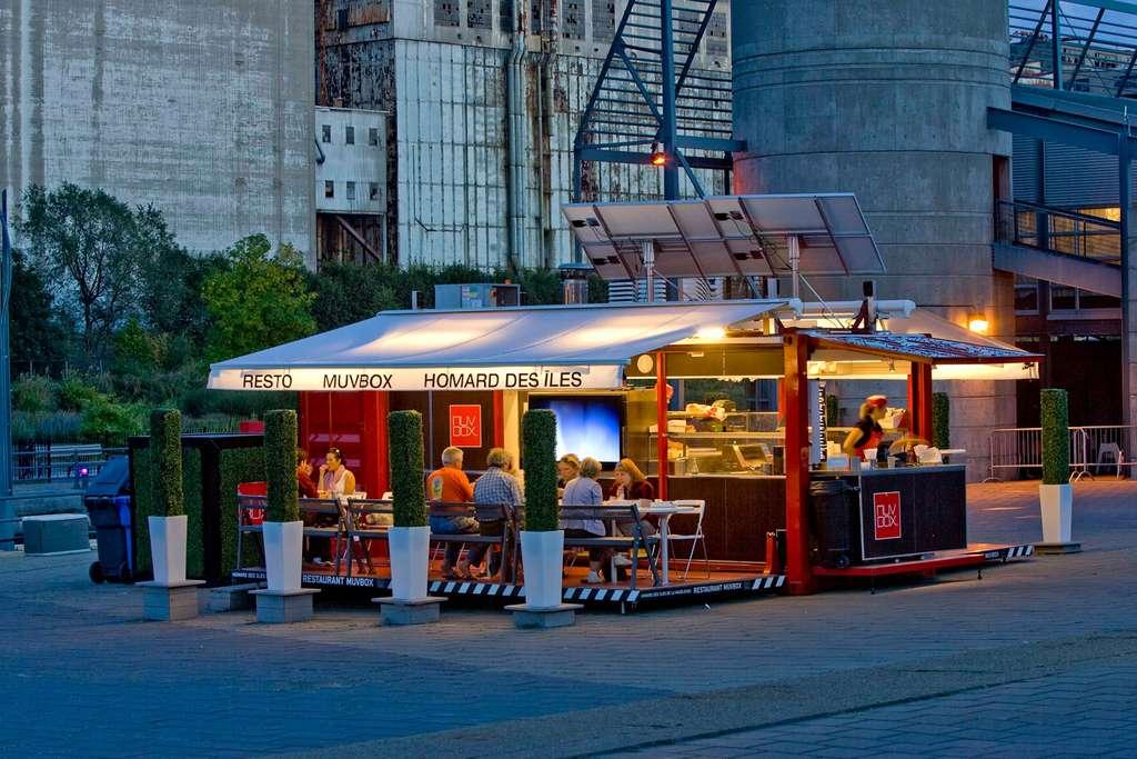 Le restaurant éphémère « Homard box » à Montréal. © Muvbox, Facebook