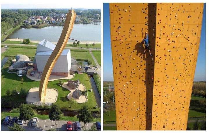 Le plus haut mur d'escalade du monde !