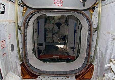 L'accès au module pressurisé Léonardo depuis l'ISS. Crédit Nasa