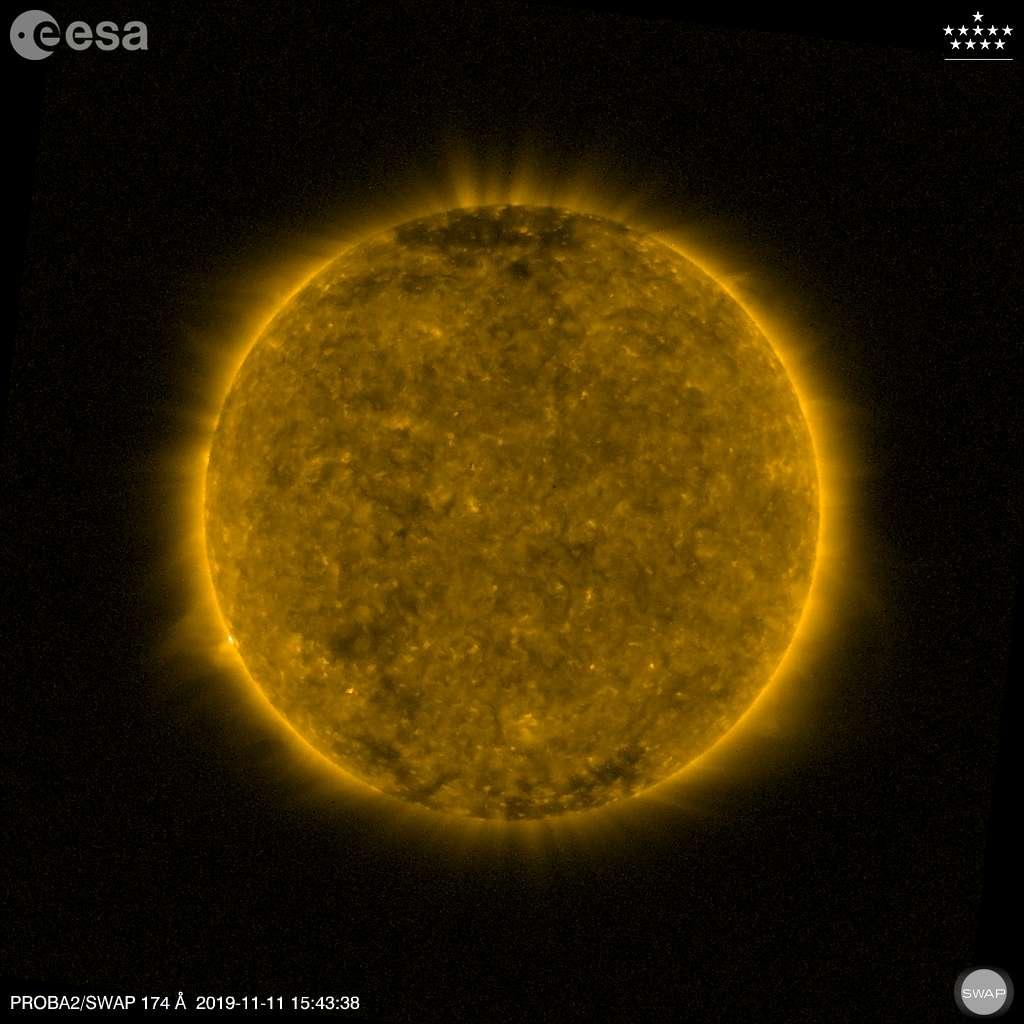 Mercure est à peine discernable sur ce cliché pris par la sonde européenne Proba-2. © ESA, Royal Observatory of Belgium