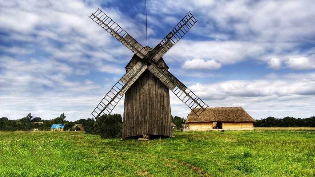 Le moulin en bois de Sierpc, Pologne