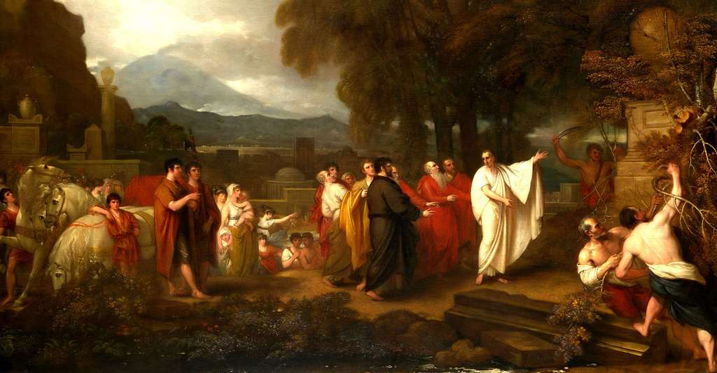 Le tombeau d'Archimède par Benjamin West 1738-1820. © Yale University Art Gallery, Wikimedia commons, Domaine Public