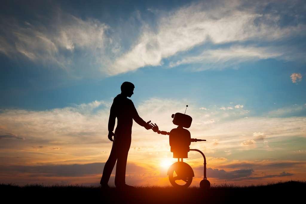 Dès la naissance les enfants Solariens sont élevés par des robots. Impossible pour eux ne serait-ce que d'imaginer qu'un robot puisse commettre un meurtre ! © Photocreo Bednarek, Fotolia