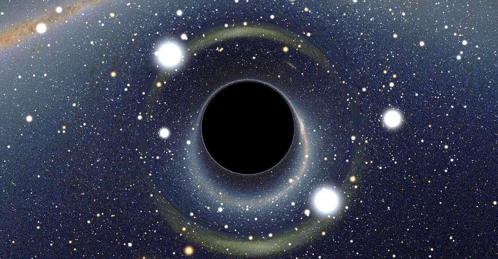 La gravitation quantique à boucles va-t-elle bouleverser notre connaissance des trous noirs ? Ici, illustration d'un trou noir stellaire. © Alain R., CC by-nc 2.5
