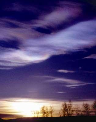 Les nuages sont les grands responsables du trou d'ozone. © Domaine public