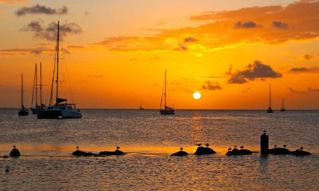 Coucher de soleil sur la Caraïbe