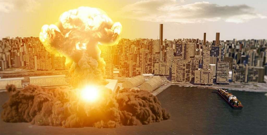L'explosion de Beyrouth. © Naeblys, Adobe Stock