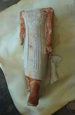 Les fouilles de Christiane Ziegler se situent proches de la pyramide à degrés de Saqqara. Ici, statue du dignitaire Akhethetep (Ancien Empire) mastaba d'Akhethetep. © Photos Christian Décamps / Mission archéologique du Louvre à Saqqara