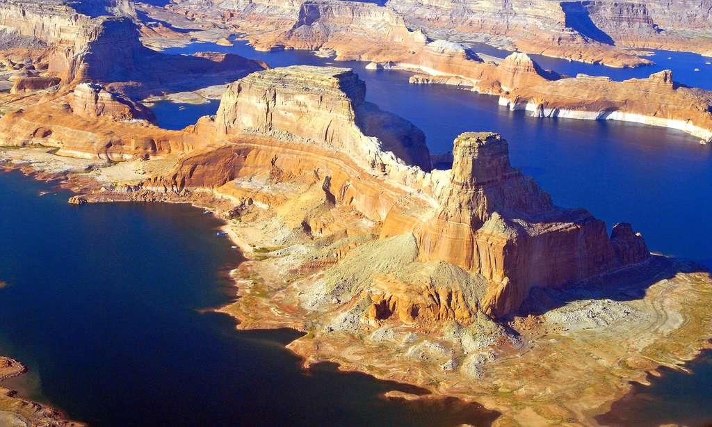 Vue aérienne du lac Powell. © Antoine - Tous droits réservés