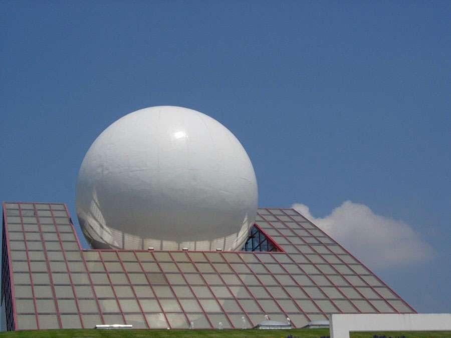 Le pavillon du Futuroscope et son ancienne sphère