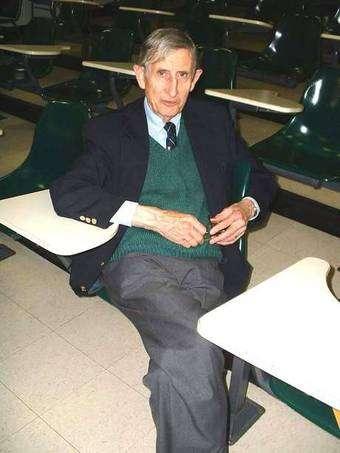 Freeman Dyson à Harvard. Crédit : Lubos Motl