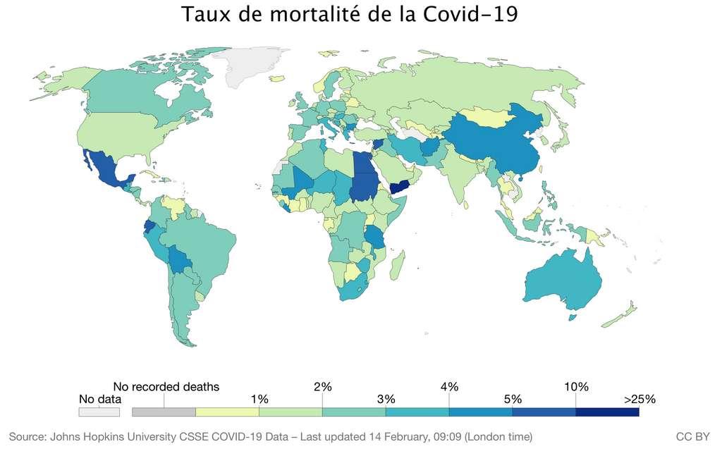 Le taux de mortalité de la Covid-19 en Inde est l'un de plus bas au monde. © Our World in Data, traduction C.D