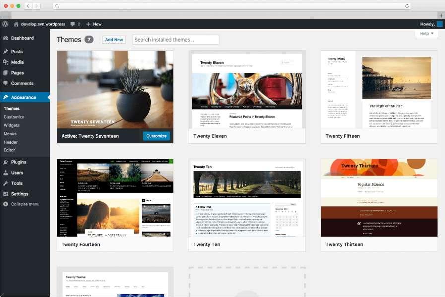 WordPress.org est le logiciel qui offre la plus grande liberté d'action et de personnalisation de votre site web. © WordPress.org