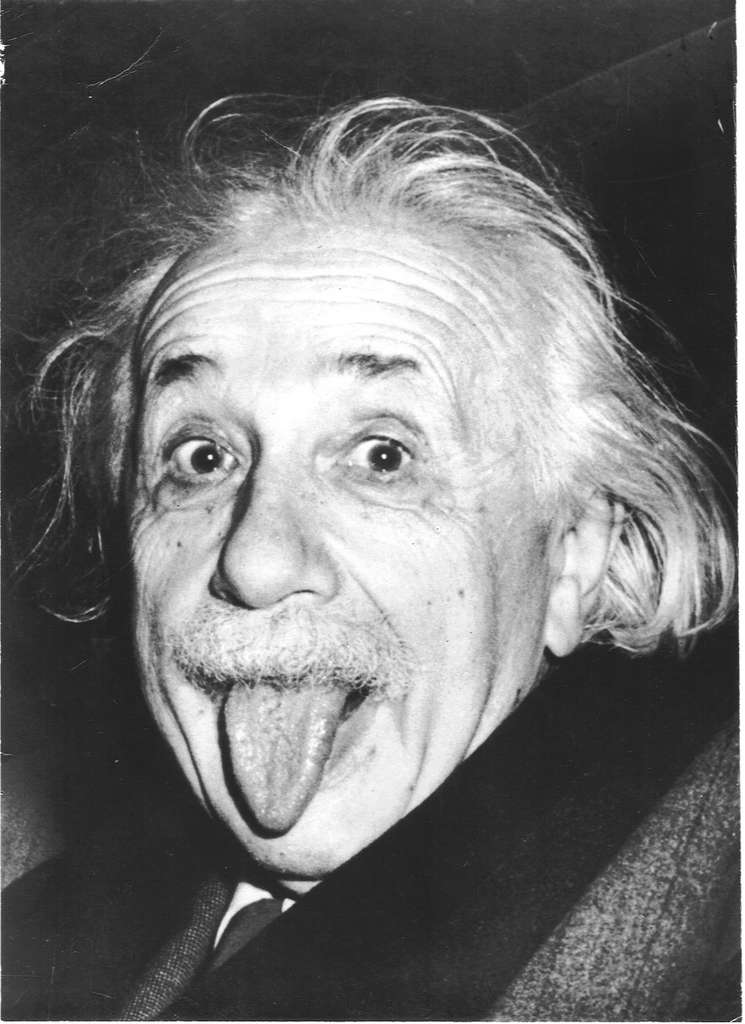 La mythique photo d'Einstein tirant la langue. © Arthur Sasse
