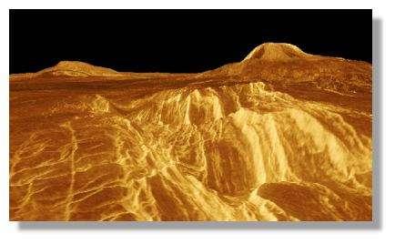 Surface de Vénus - © Nasa