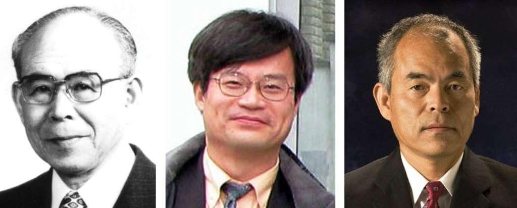 De gauche à droite, Isamu Akasaki, Hiroshi Amano et Shuji Nakamura, les lauréats du prix Nobel de physique 2014. © Nagoya University, University of California Santa Barbara