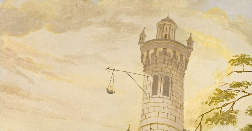 Un phare, peint sur la fresque du plafond par Franz Maulbertsch. © 360 GeoCities