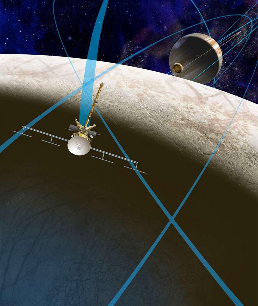 Ces dernières années, la Nasa a étudié plusieurs concepts de missions à destination d'Europe, mais aucun n'a été sélectionné. Aujourd'hui, les lignes bougent. Le Congrès a donné son feu vert au financement d'études du concept Europa Clipper, et la Nasa a lancé un appel à idées pour la charge utile ainsi que l'architecture de la sonde. © Nasa, JPL-Caltech