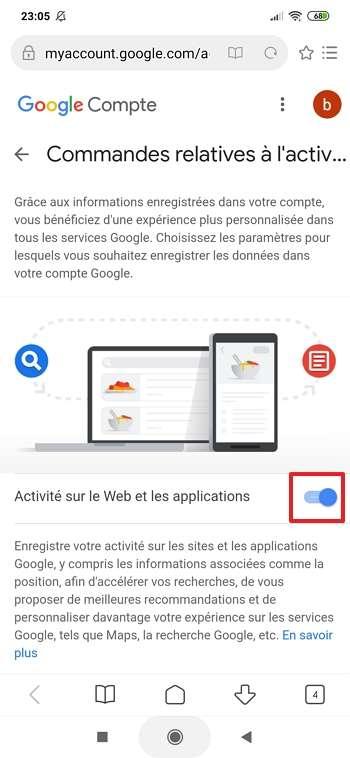 Retournez sur Discover une fois que le curseur est placé à droite. © Google Inc.