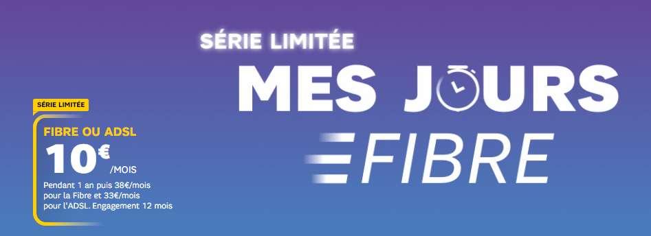 La fibre optique au prix cassé de 10€ / mois © SFR