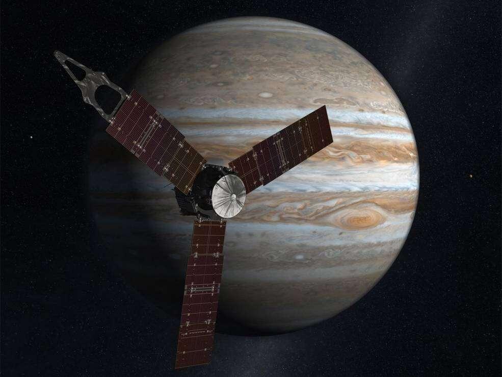 Juno est une sonde de la Nasa programmée pour percer les secrets de la formation et de l'évolution de Jupiter. © Nasa, JPL