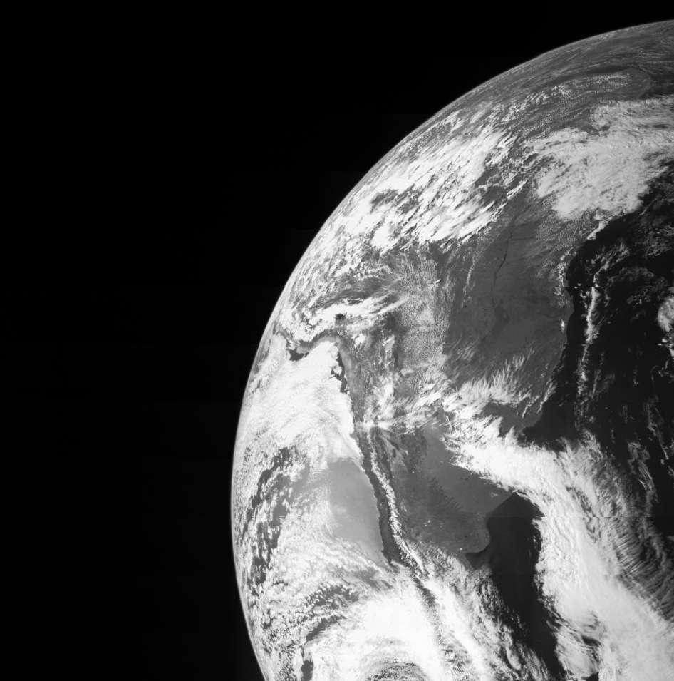 La Terre vue par la sonde Juno lors de son survol de la Terre le 9 octobre dernier. Ce passage rapproché a été l'occasion de tester plusieurs instruments. © Nasa, JPL-Caltech, MSSS