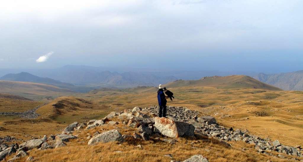 Un paysage de steppe en Asie centrale. © Peretz Partensky, Wikipedia, CC by-sa 2.0