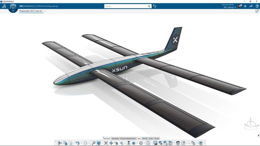 Modélisation du drone XSun en 3D ©3DEXPERIENCE Lab