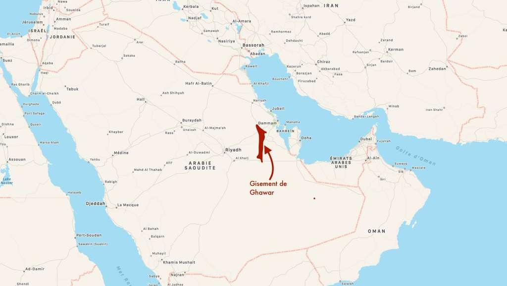 Les réserves de pétrole du gisement de Ghawar en Arabie Saoudite sont estimées à 48,2 milliards de barils. © C.D, Plans