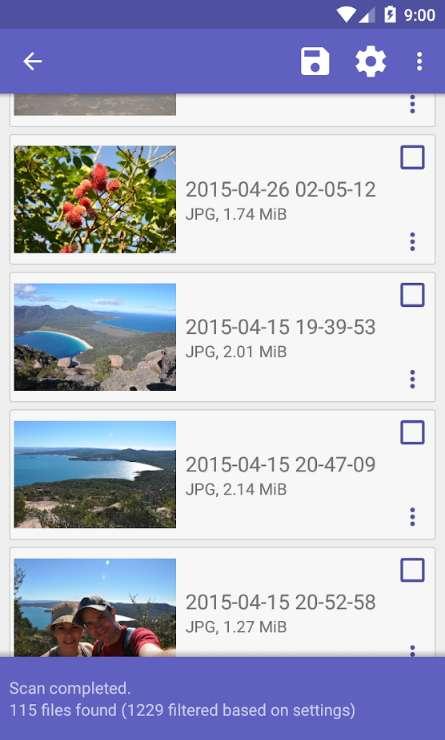 DiskDigger photo recovery permet de récupérer les photos de son smartphone après les avoir effacées ou après le reformatage de sa carte mémoire. © Defiant Technologies