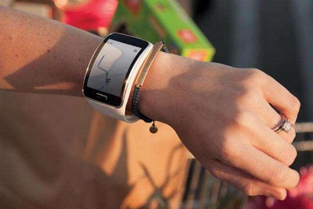 La montre connectée Samsung Gear S, désormais compatible 3G. © Samsung