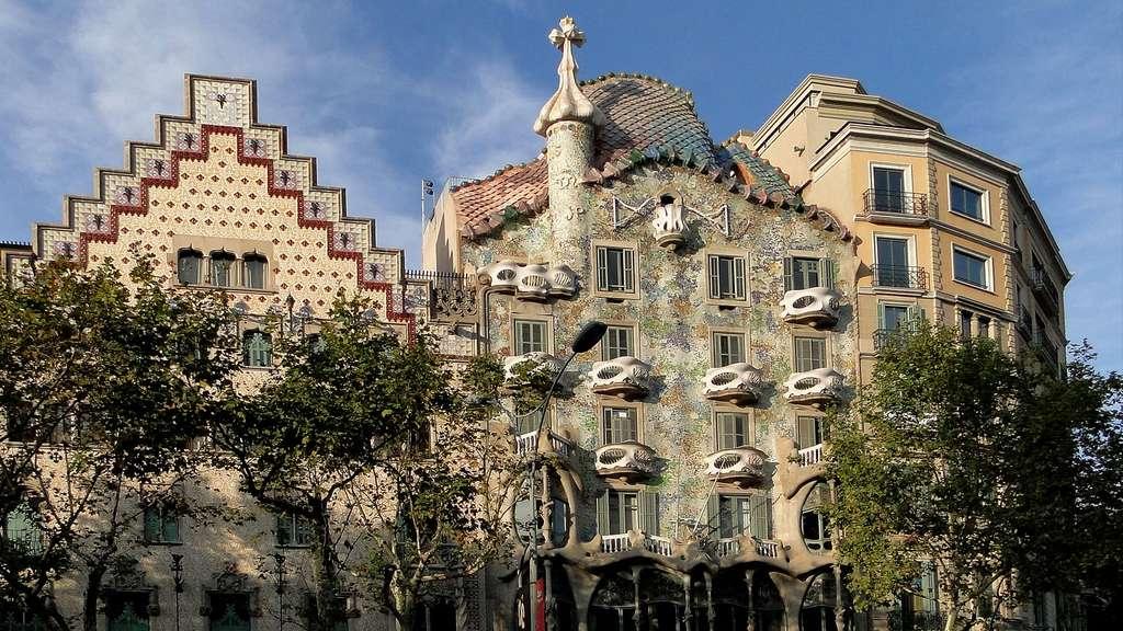 La Casa Amatller et la Casa Batllo, deux œuvres côte à côte