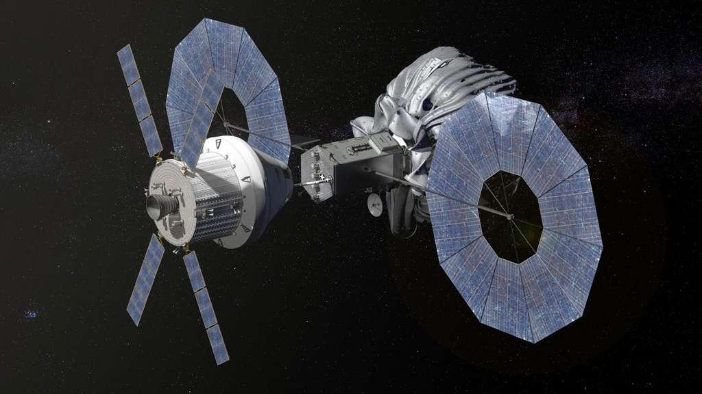 Avant d'envisager des voyages habités à destination de Mars, la Nasa utilisera l'Orion-ESM pour des missions à destination de l'astéroïde qu'elle compte capturer à la fin de la décennie prochaine. © Nasa