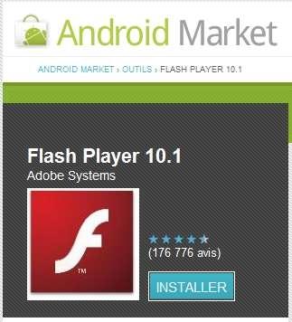 La version 10.1 de Flash disponible depuis l'été dernier sur l'Android Market affiche difficilement les sites dont les animations n'ont pas été optimisées pour les terminaux mobiles. © Google