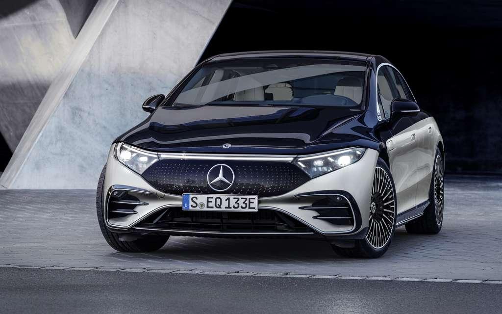 La Mercedes EQS s'inscrit dans la catégorie des berlines électriques haut de gamme. © Mercedes