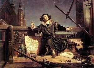 Représentation de Copernic par le peintre polonais J. Matejko (1838-1893)