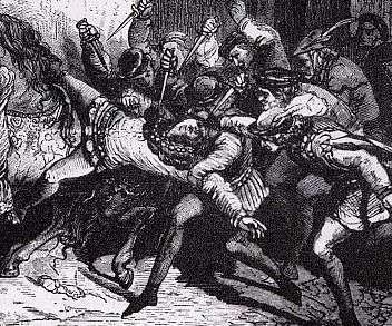 L'assassinat de Louis d'Orléans par les partisans de la Bourgogne est le sommet de la lutte entre les deux partis. © DR