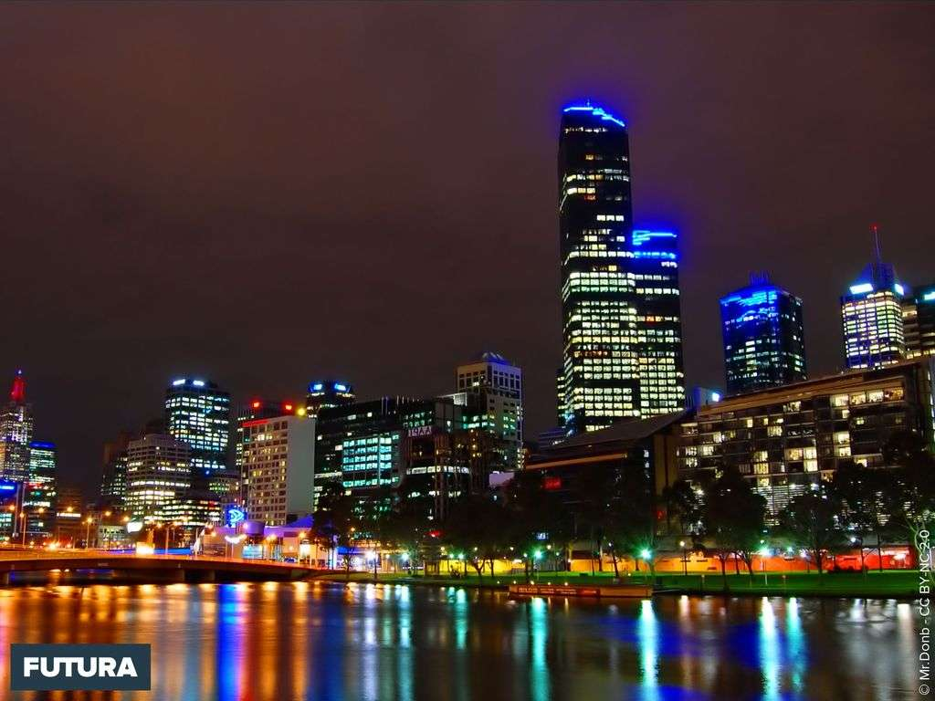Australie - Melbourne vue de nuit