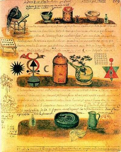Quatrième page de l'alchimie de Flamel.