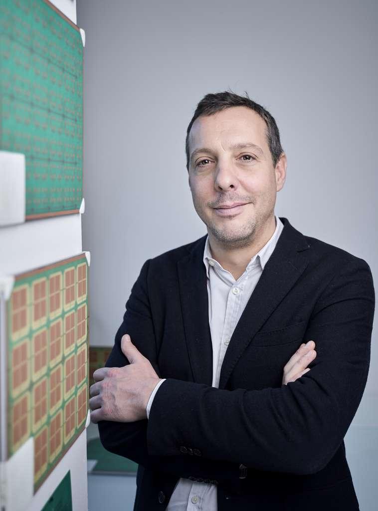 Chercheur au CNRS, Geoffroy Lerosey a fondé la start-up Greenerwave avec Mathias Fink en 2016. © Guillaume Murat