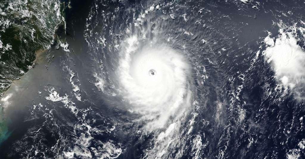 L'ouragan Irma — ici à l'approche des Petites Antilles, le 5 septembre 2017 — qui a balayé notamment les Antilles début septembre 2017 a été classé en catégorie 5 sur l'échelle de Saffir-Simpson. Face à son intensité, des experts se sont demandé de nouveau s'il ne faudrait pas créer une catégorie 6. © Eosdis Wolrdview