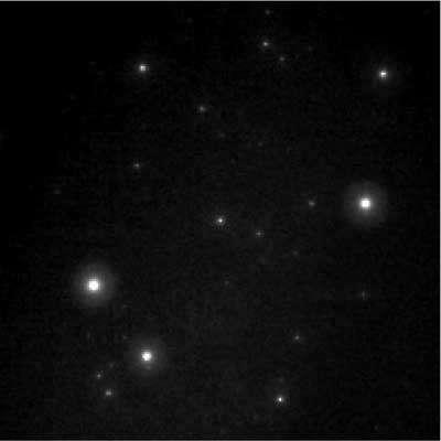 Image du sursaut du 19 mars 2008, observable à l'œil nu (au centre).