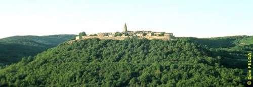 Puycelsi, entouré par la forêt de la Grésigne