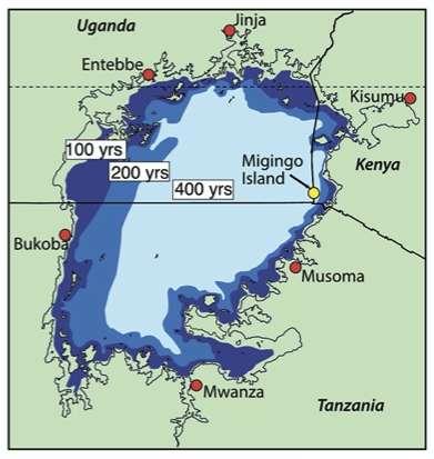 Selon le scénario le plus pessimiste, le Kenya perdra son accès au lac Victoria d'ici moins de 400 ans. © Emily J.Beverly et al, Earth and Planetary Science Letters, 2020