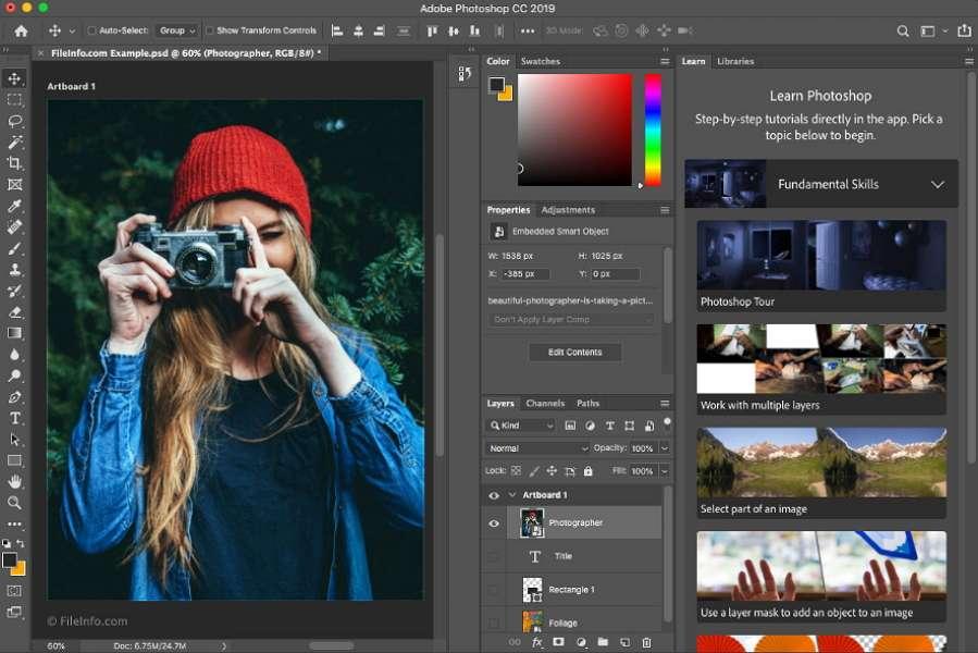 Adobe Photoshop est le logiciel de retouche d'image le plus connu. © Adobe