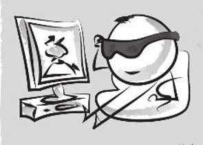 Il est possible de reconnaître un écran LCD en portant des lunettes de soleil aux verres polarisés. © Dunod