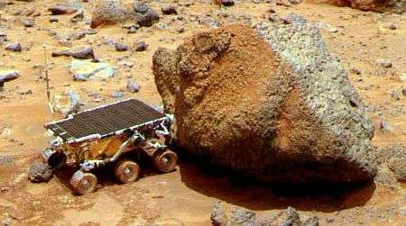Le robot Sojourner à pied-d'oeuvre