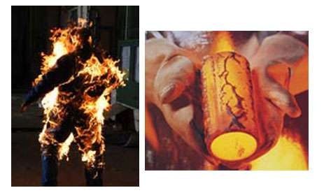 Torche humaine - Gants