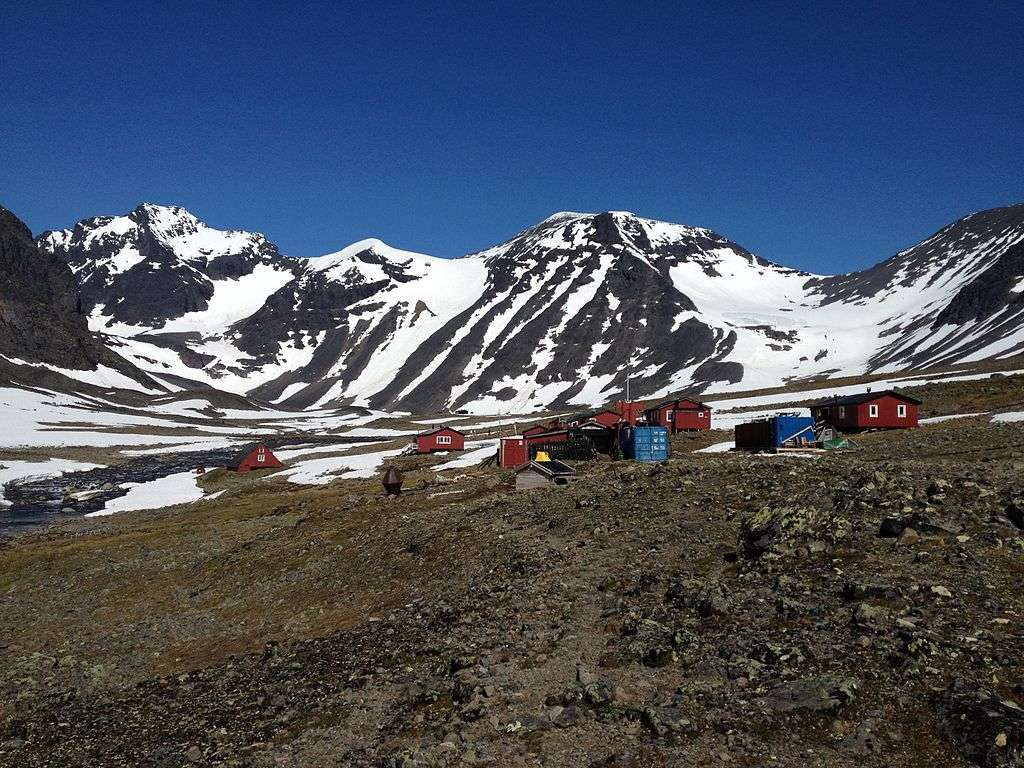Station de recherche de la vallée du Tarfala. © Nokkoken, WikiCommons